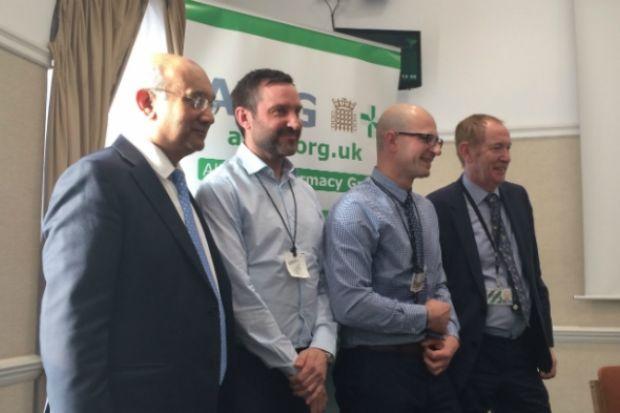 Left to right: Keith Vaz MP, Mark Burdon, Olivier Picard, Sir Kevin Barron