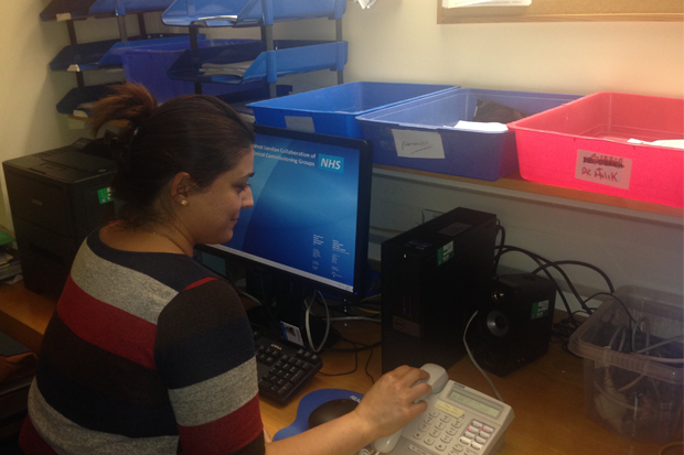 Pharmacy technician Termeh Goudarznia works at two GP surgeries in west London