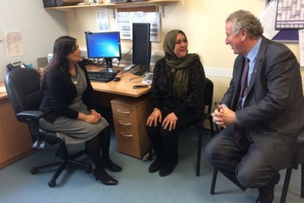 Pharmacy minister David Mowat saw practice pharmacists in action at an Ealing GP pilot