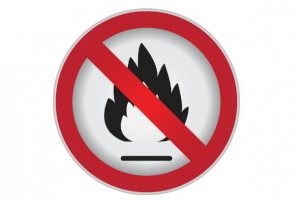 warning of fire when emollients are used