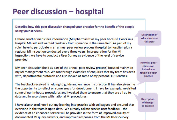 revalidation peer discussion example