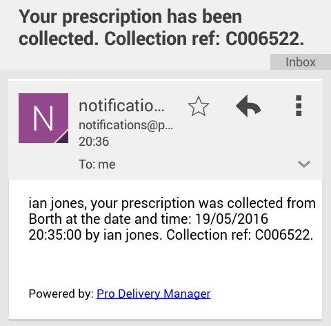 pharmacy app prescription collection patient