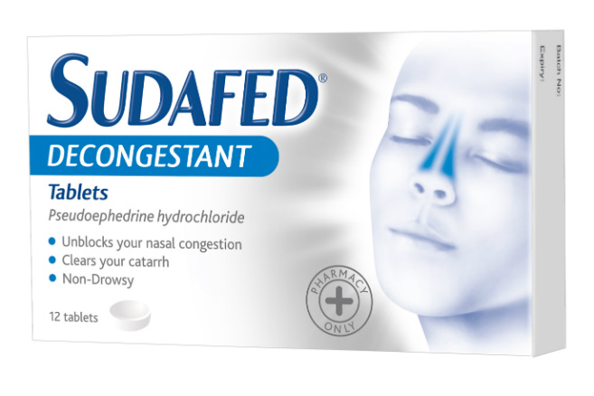 Sudafed Decongestant Tablets