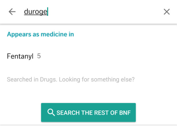 new BNF app search by brand