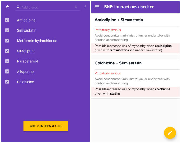 new bnf app interactions