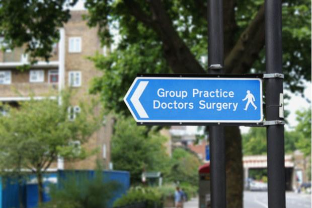 GP practice sign