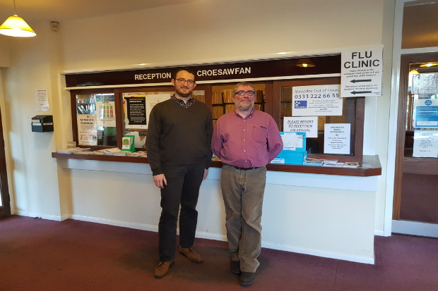 Pharmacist Dylan Jones (left) and Dr Andy Raynsford (right)