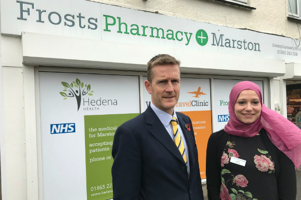 Frosts Pharmacy's Marston branch