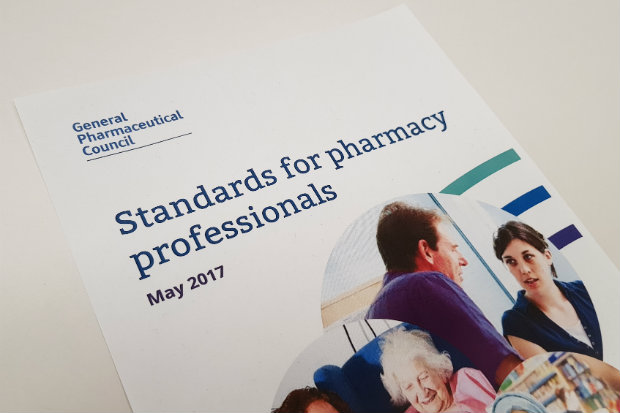 GPHC pharmacy standards for pharmacy professionals