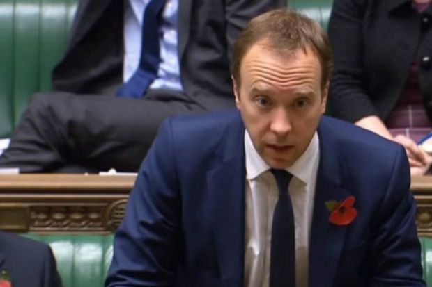 Matt Hancock said he would visit a pharmacy in Derbyshire later this month (credit: Parliament)
