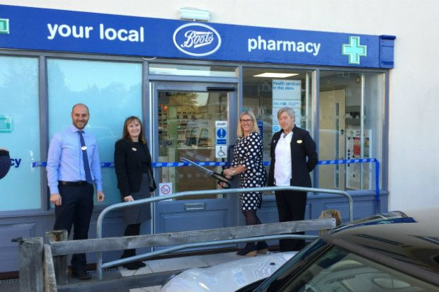 The Boots branch on Stonehenge Walk officially reopened yesterday