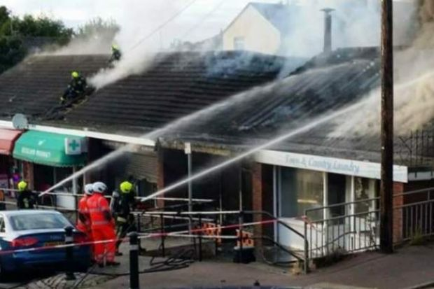 The fire burned out several shops last month, the fire brigade confirmed. Credit: Newton Abbot Fire Station