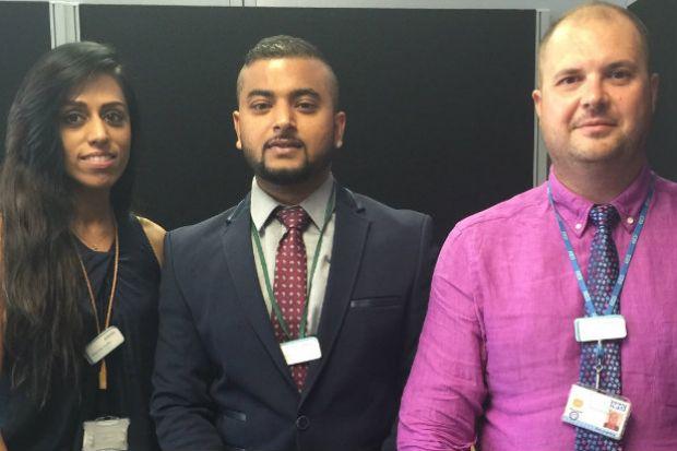 The clinical contact centre pharmacists: Sukhvinder Sandhu, Ikhlaq Hussain, Radu Juverdeanu