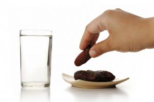 Once the sun has set during Ramadan, the fast is broken with dates and water