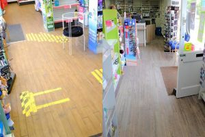 A Well branch in Acle, Norfolk before (left) and after (right) a floor refitting