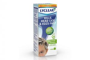 Headlice shampoo bottle