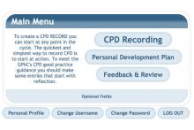The GPhC's former CPD recording website uptodate is due to close