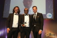 Ade Williams (centre) personally picked up two trophies at last year's C+D Awards