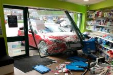 The car crashed into Hawkley Pharmacy after an elderly gentleman lost control