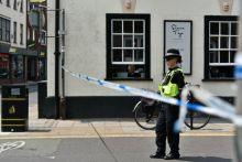 The Boots branch in Amesbury is one of five areas cordoned off as part of the investigation