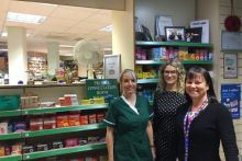 L-R: Technician Helen Blackett, pharmacist Katharina Elliott and superintendent Dawn Cruickshank