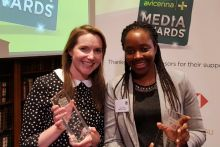 C+D news editor Grace Lewis and deputy editor Lilian Anekwe with their Avicenna trophies