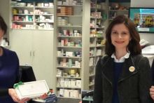 Ms Kennedy visited a pharmacy in her constituency in 2017. Credit: Joan Mary Burrows