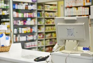 Counter in a pharmacy