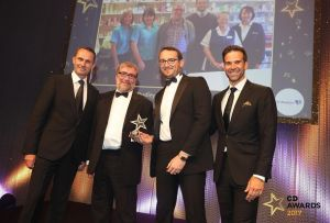 Pharmacist Dylan Jones (second from right) and Dr Andy Raynsford (second from left)